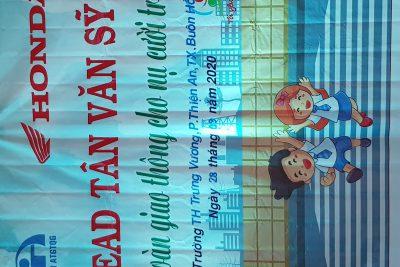 HĐTN: An toàn giao thông cjo nụ cười trẻ thơ tại trường TH Trưng Vương.