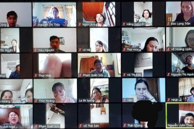 Công tác tập huấn dạy học trực tuyến cho học sinh  trong thời gian nghỉ phòng chống dịch covid 19 tại trường tiểu học Trưng Vương thị xã Buôn Hồ.