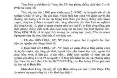 Lịch xét nghiệm covid 19.