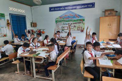 Tiết dạy học tại lơp 5a1 của cô Lê Thị Nhân và công tác dự giờ thăm lơp hỗ trợ chuyên môn cho giáo viên được Ban giám hiệu quan tâm